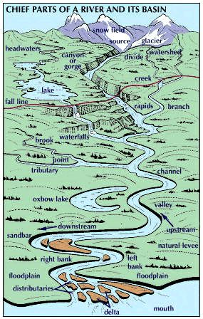 Week 17.   Art:Some features of a river and its basin, such as branches and valleys, occur several times in its course. As it approaches its mouth, the...