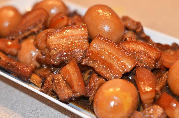 sweet pork with eggs