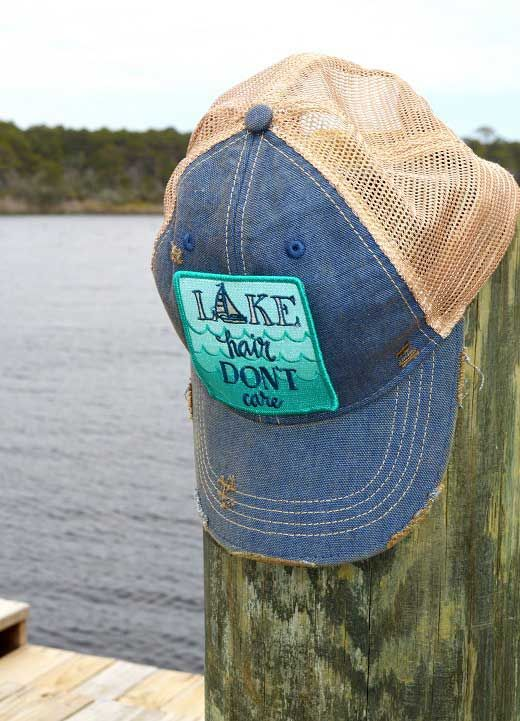 Judith March Lake Hair Don't Care Trucker Hat 930H-85