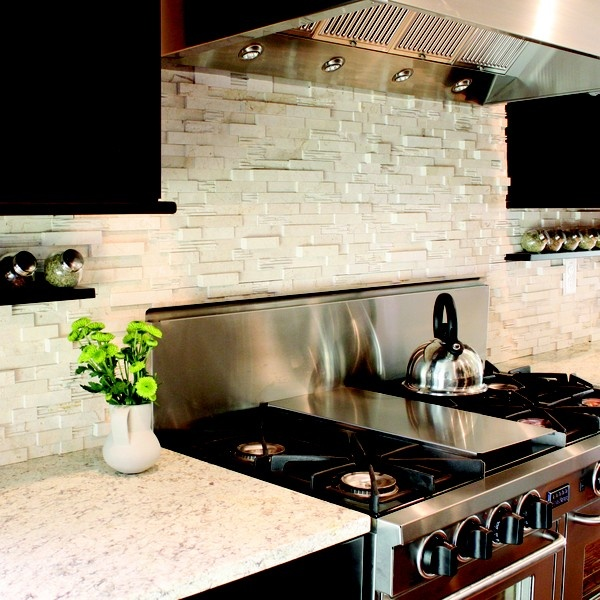 Kitchen Backsplash Rock backsplashes (glass, tile, and stone) | stone backsplash, white