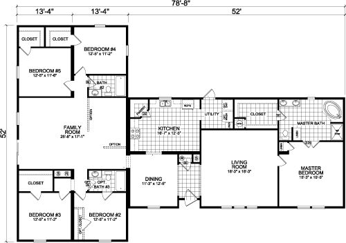 23 best images about floor plan on pinterest house plans for 5 bedroom mobile homes