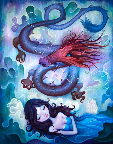 """New painting """"Floating Shadow"""" for Year of the Dragon @Dra… 