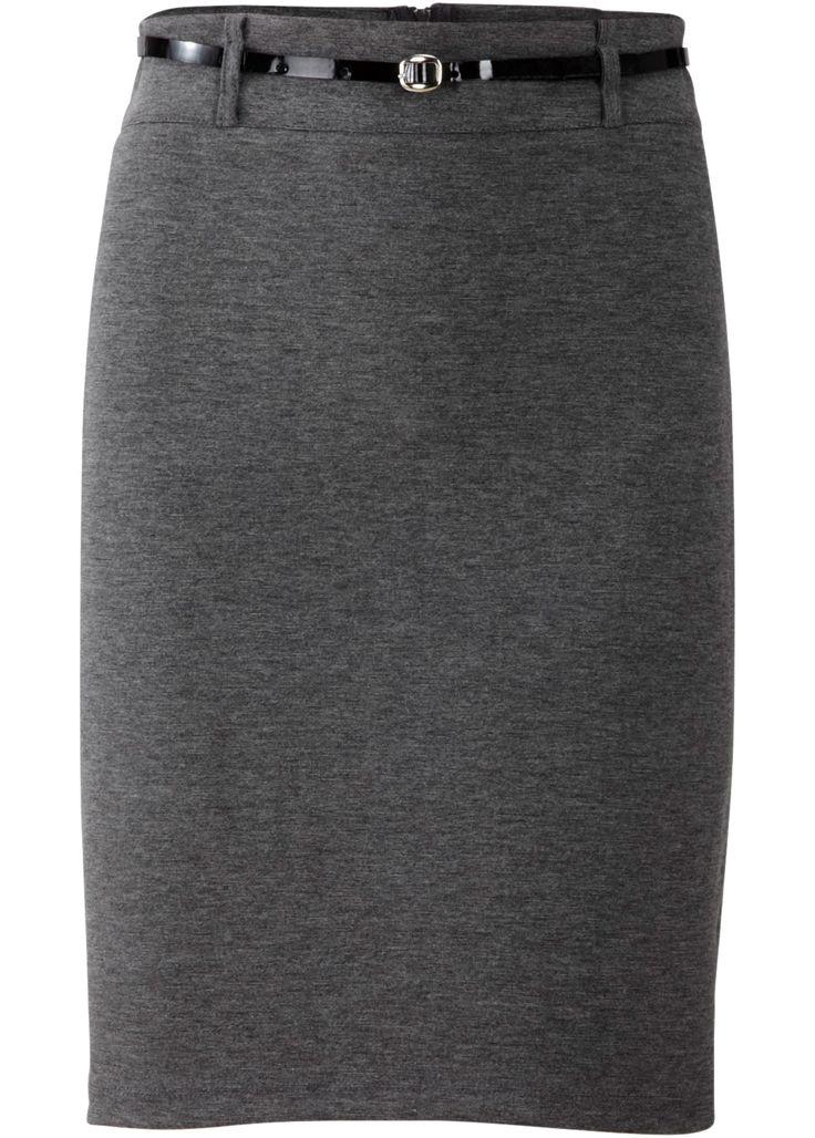 Трикотажная юбка-карандаш, BODYFLIRT, антрацитовый