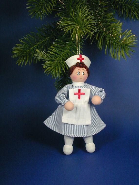 Nurse Clothespin Doll Ornament