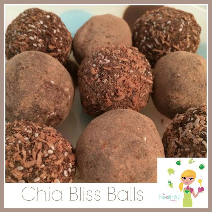 Chia Bliss balls! Perfect for an afternoon energy hit!   http://thehealthfulmum.com.au/chia-bliss-balls/