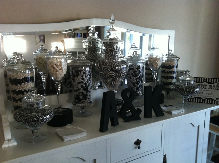 17 Best Images About Black And Gold Candy Table On
