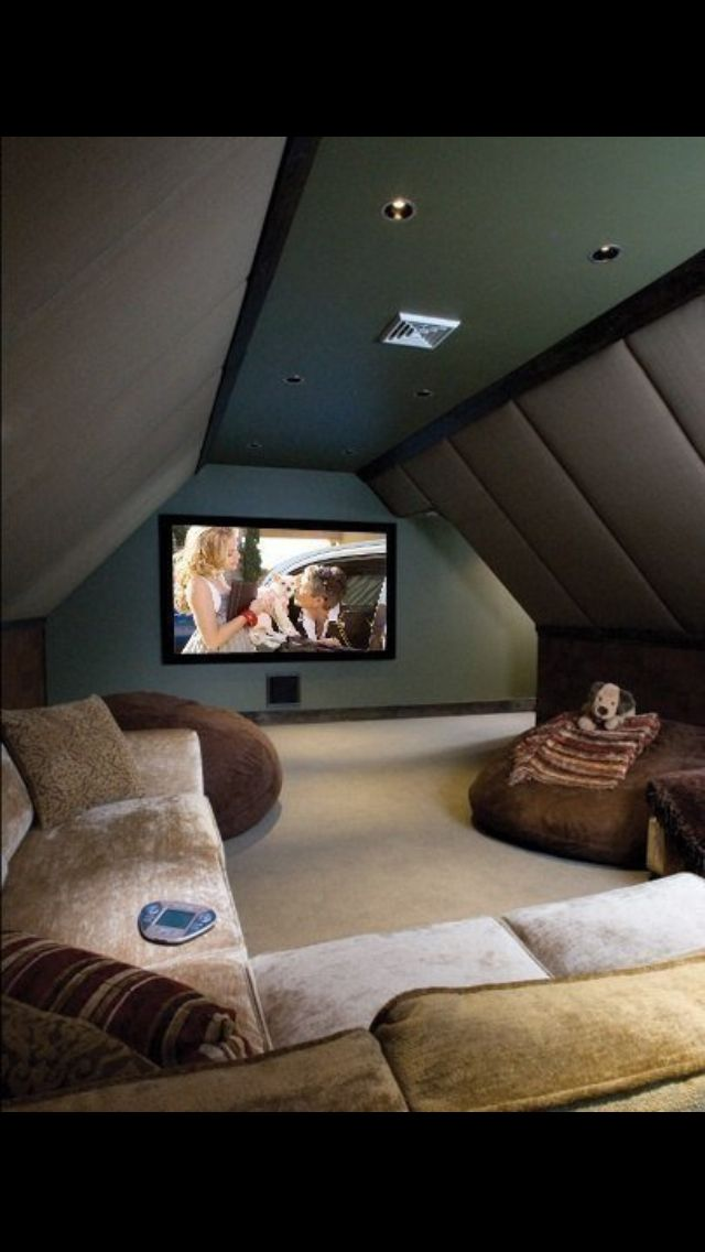 The idea of using attic space or over the garage space for a movie room.