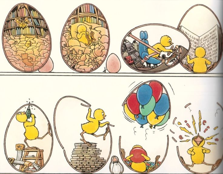 Claude Ponti. Inside the eggs. Sweet.