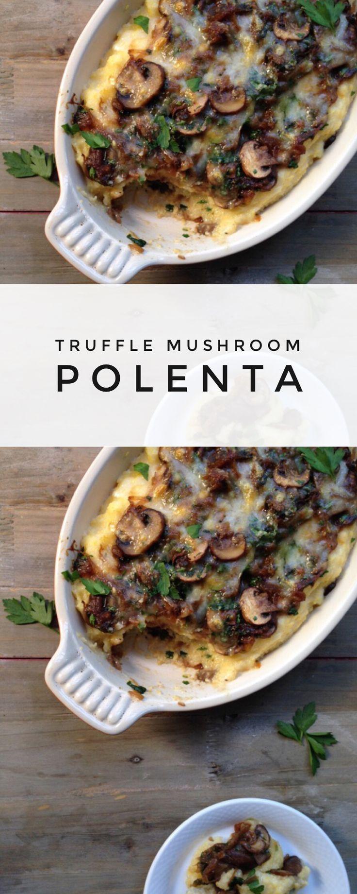 Truffle Mushroom Polenta Gratin Recipe | CiaoFlorentina.com @CiaoFlorentina