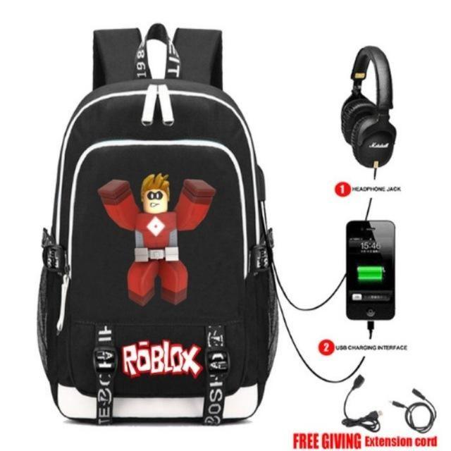 Roblox Avatar Games Zipper Rucksack School Backpack Book Bag Roblox Backpacks For School School Bags For Kids Laptop Travel Bag Backpacks