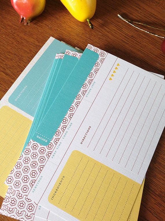 Paprika Recipe Cards | One Dozen, Double-Sided | Earmark Social 10.00
