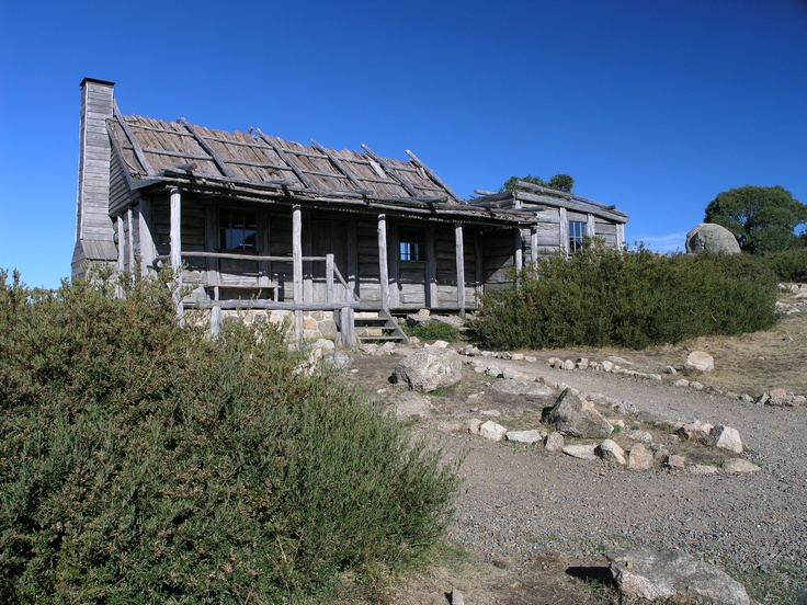 """Craigs Hut - Alpine National Park. This hut was used in the filming of """"The Man From Snowy River"""" movie."""