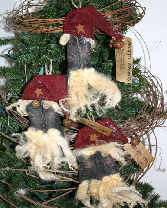 95 Best Images About PRIMITIVE SANTA On Pinterest
