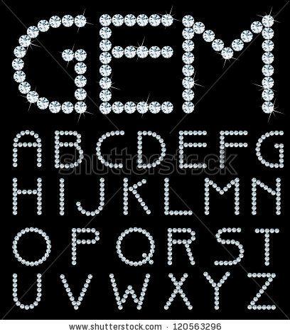 U Alphabet In Diamond vector alphabet with diamonds by Zlatko Guzmic on Shutterstock