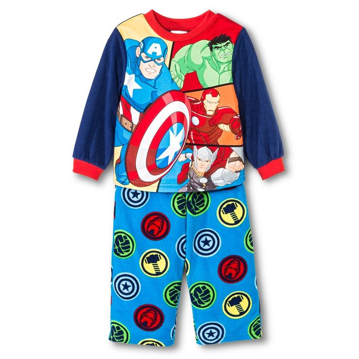 Toddler Boys' Avengers Two Piece Pajama Set - Blue