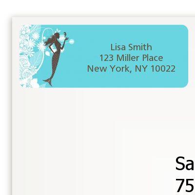 Mermaid - Bridal Shower Return Address Labels
