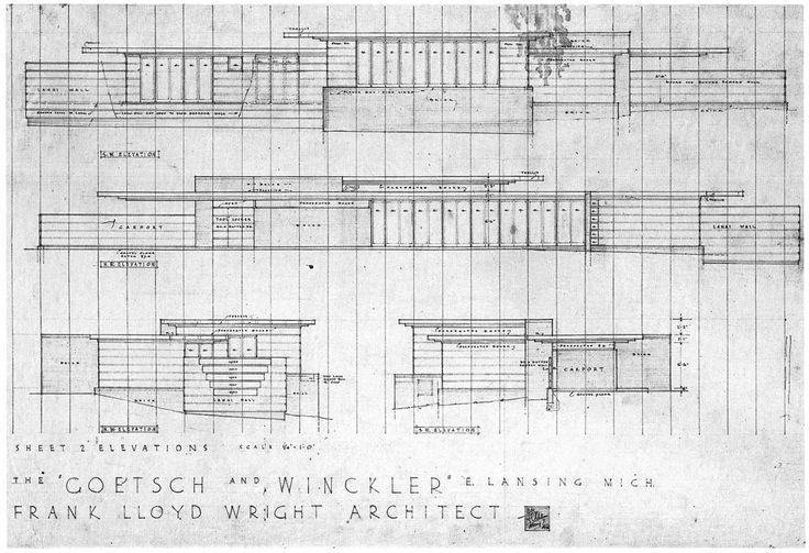 Wright Usonian Goetsch-Winkler house Lansing, MI | Design
