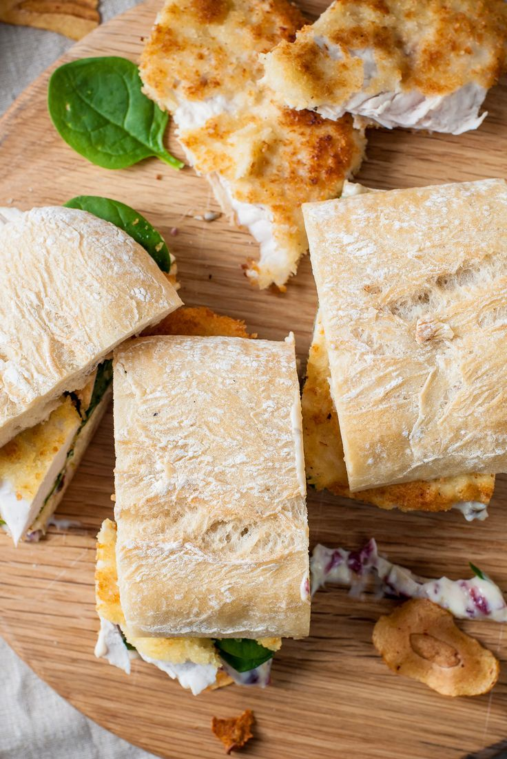 Turkey schnitzel sandwich