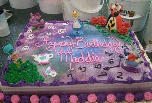 Alice in Wonderland Cake by tini.deviantart.com on @deviantART