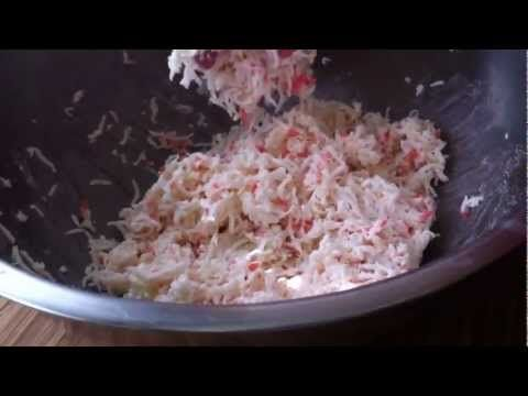 How to make crab salad for sushi rolls