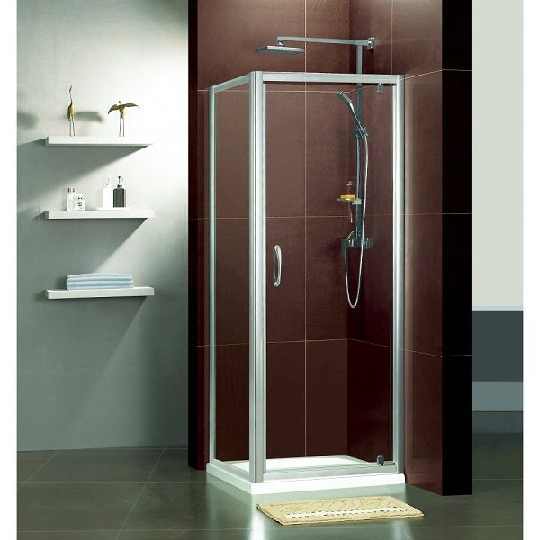 one piece corner shower unit could have tiled walls with shower pan
