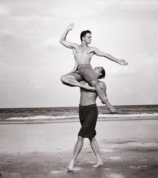 Annie Leibovitz, Mikhail Baryshnikov and Rob Besserer, Cumberland Island, Georgia, 1990 #dance #photography