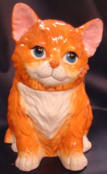 Orange Cat Cookie Jar