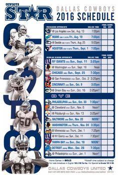 Dallas Cowboys 2016 schedule