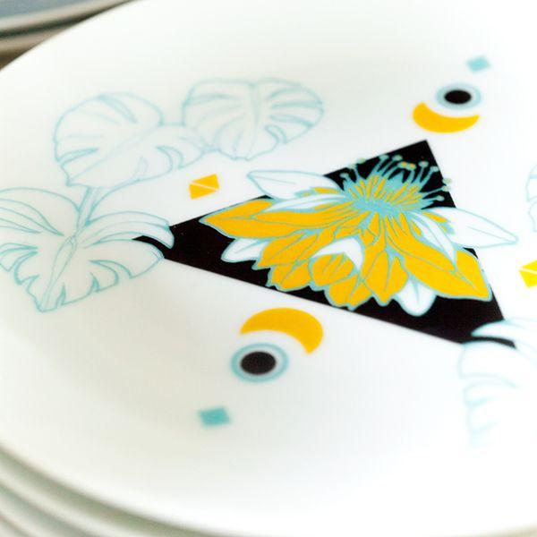 Plato para tarta de porcelana trinidad