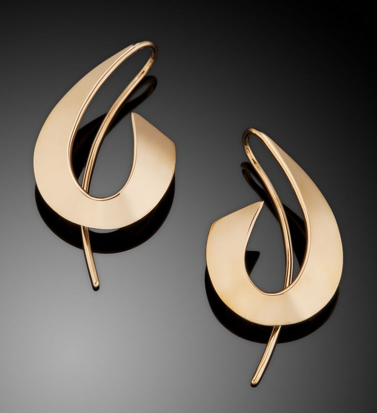 *** Crazy big discounts on beautiful jewelry at http://jewelrydealsnow.com/?a=jewelry_deals *** A Splash of Gold by Ben Dyer (Gold Earrings) | Artful Home
