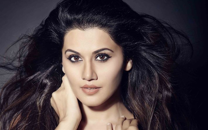 Download wallpapers Tapsee Pannu, 4k, Bollywood, Indian actress, portrait, photoshoot, brunette