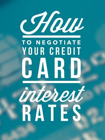 A few years ago, when I had over $15,000 of credit card debt, I was often negotiating with credit card companies to get better interest rates. I took a very active approach toward minimizing my interest expense on my debt and learning to negotiate with credit card companies was a key component…<br />', 'pinterest')