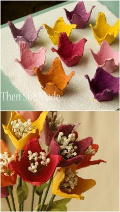 35 Impossibly Creative Projects You Can Make with Recycled Egg Cartons - DIY...