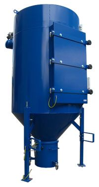 CARTRIDGE DUST COLLECTOR 7500 - The Cartridge Dust Collector 7500 model is compact and fully-welded with a large capacity, suitable for construction and available at a competitive price. The dust collector is equipped with the unique compressed air cleaning system from Teldust. It contains 4 cartridges and comes with a 50L dustbin and a standard controller.