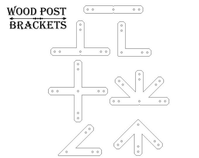 T Bracket For 4 Post Wood Post T Bracket 4x4 T Post T Etsy Wood Post Steel Trusses Bolts And Washers