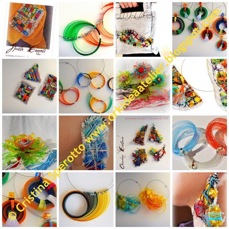 """Ork'Idea Boutique: CD """"PET: UN MATERIALE CHE E' UN GIOIELLO"""", per imparare a creare gioielli con le bottiglie di plastica"""