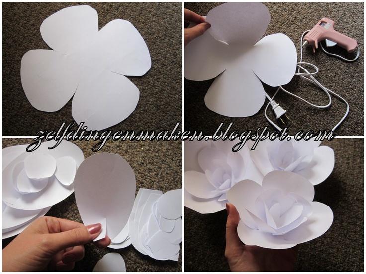 Zelf dingen maken: Bloemen van papier (DIY bloemenboog bruiloft)