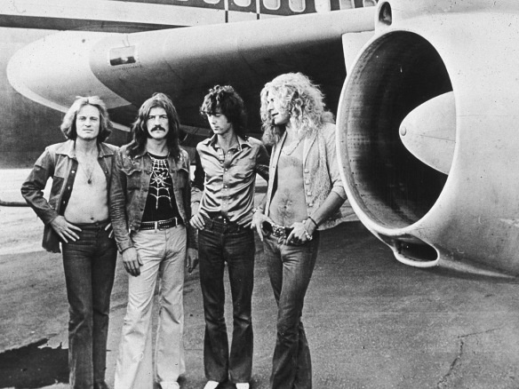 Led Zeppelin. Look at all that hair