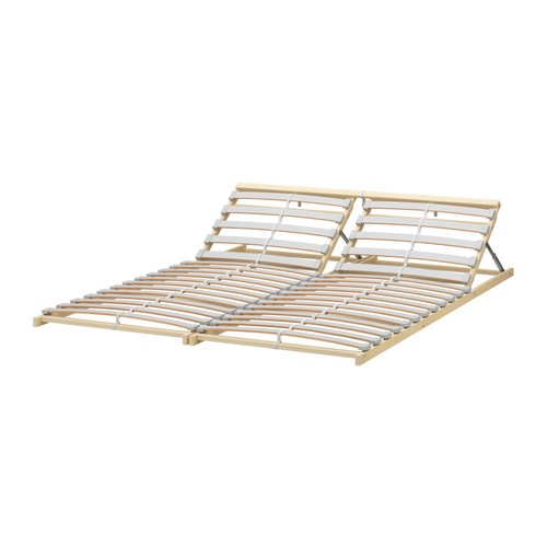 Adjustable slatted bed base 120 queen furnishing my 2 for Bed base ikea