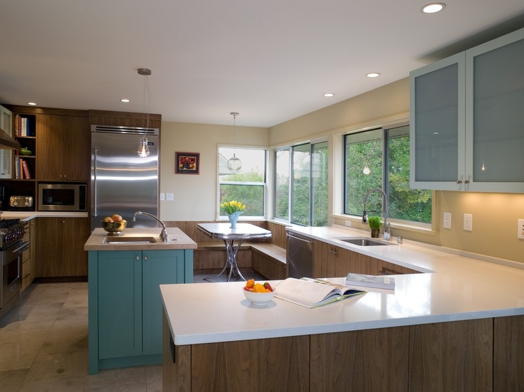 32 best images about 1950s kitchen remodel ideas on for Mid century modern kitchen cabinets
