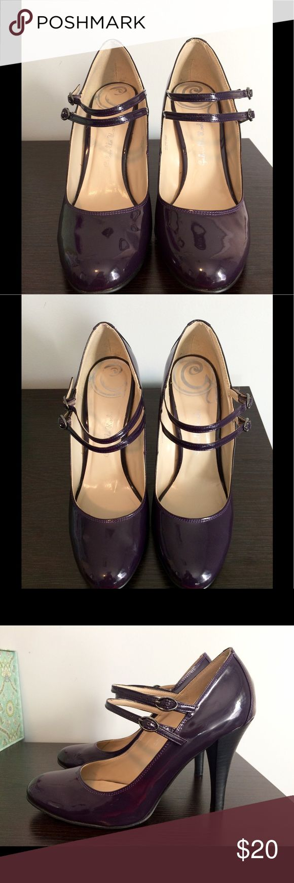 Gabriella Rocha Mary Jane heels Cute dark purple/plum 4 inch Mary Jane pumps. Only worn a couple times. Great condition. Gabriella Rocha Shoes Heels