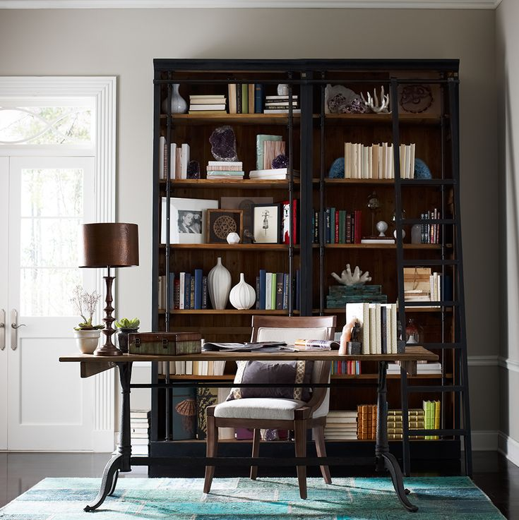 French Library Single Bookcase-Black | Living room ...