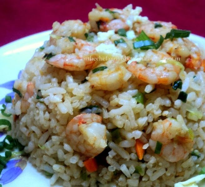 """The Chef & His Better 1/2: Chinese style """"Prawn/shrimp fried rice"""""""