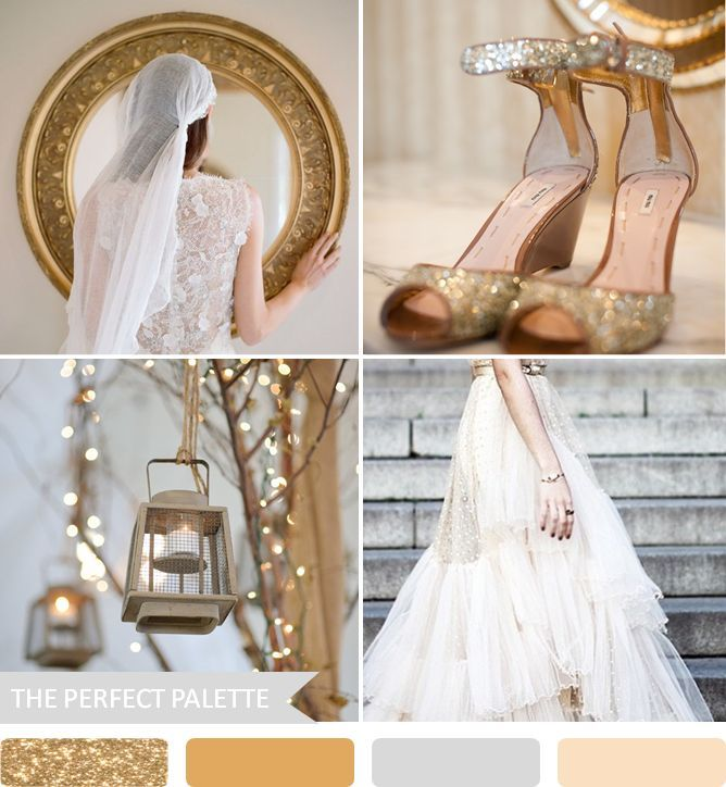 Shades of Gold The Perfect Palette: 10 Wedding Color Palettes That Aren't Boring!