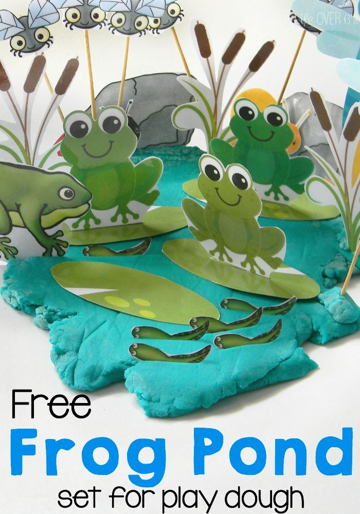 This free frog pond play dough set will combine science and play time! Learn about life cycles and habitats while playing with play dough.