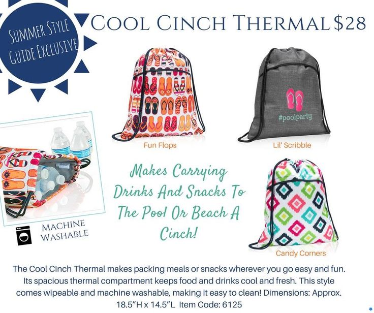 Love the new cool clinch sac.  And it's washable! www.mythirtyone.com/emily88