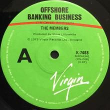 OFFSHORE BANKING BUSINESS / SOLITARY CONFINEMENT (EDITED VERSION) (3:37) | MEMBERS | 7 inch single | $15.00 AUD | music4collectors.com