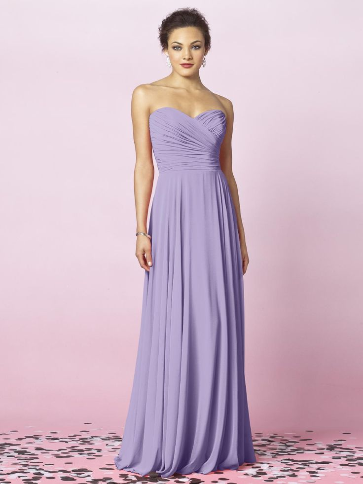 brides maids dresses will be a light purple and maid of honor a deep purple