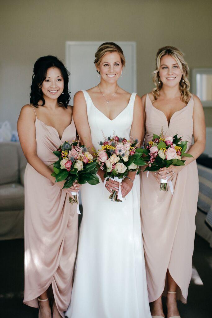 Blushing Bridesmaids // Photos by Lara Hotz Photography