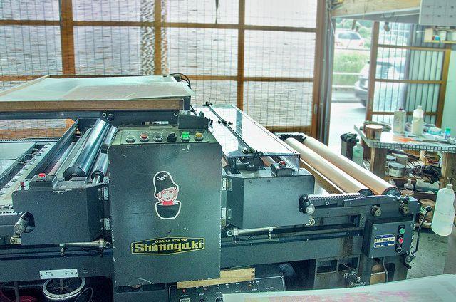 リトグラフ 平版自動校正機 Automatic Flat-Bed Press